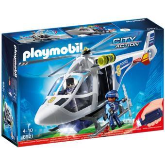 Playmobil City Action 6921 Helicóptero da Polícia com luzes LED