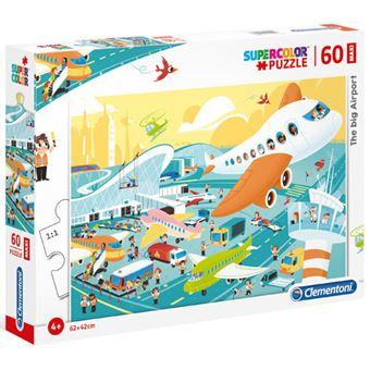 Puzzle Maxi Big Airport - 60 Peças - Clementoni