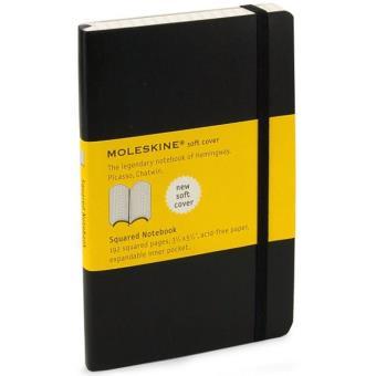 Moleskine: Caderno Soft Quadriculado Bolso Preto