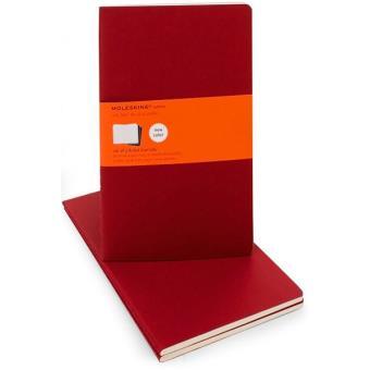 Moleskine: Caderno Pautado Grande Vermelho