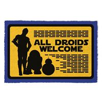 Tapete de Porta Star Wars: All Droids Welcome