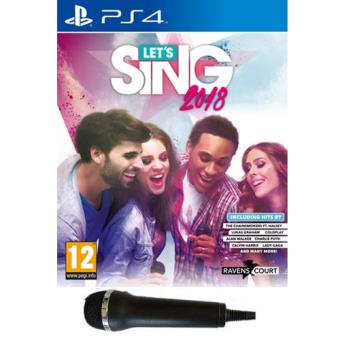 Let's Sing 2018 + 1 Micro PS4