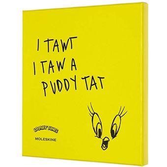 Caderno Liso e Lápis de Carvão Moleskine Looney Tunes Sketch