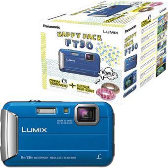 Câmara Aventura Panasonic Lumix DMC-FT30 - Azul - Happy Pack