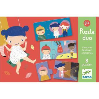Puzzle Duo Emoções - 16 Peças - Djeco
