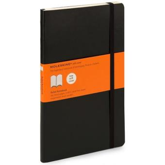 Moleskine: Caderno Soft Pautado Grande Preto