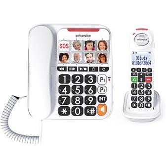 Telefone sem Fios + Telefone Fixo Swissvoice Xtra 3155 - Branco