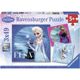 Puzzle Frozen: Elsa & Anna e Olaf - 3 x 49