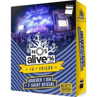 Fã Pack Fnac NOS Alive 2016 - Voucher 1 Dia (Não Aderente)