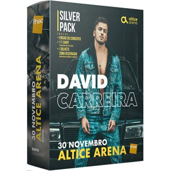 Fã Pack Fnac David Carreira – Silver | Preço: 49.9€ Pack + 3.68€ Custos de Operação