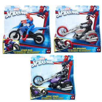 Spiderman Veículos com Figura 15cm - Hasbro - Envio Aleatório