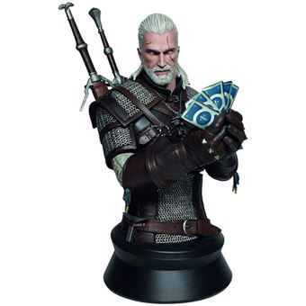 Busto The Witcher 3: Wild Hunt Bust Geralt Playing Gwent - 22cm