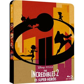 The Incredibles 2: Os Super-Heróis - Edição Steelbook Importação - Blu-ray + Extras