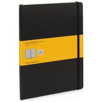 Moleskine: Caderno Soft Quadriculado XL Preto