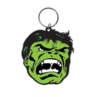 Keyring Rubber Hulk Face