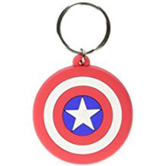 Keyring Rubber-Capt.America-Shield