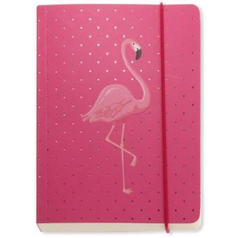 Caderno Pautado Flamingo A6