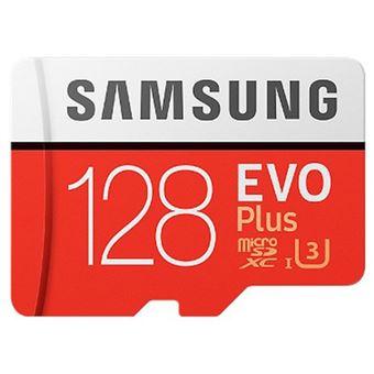 Cartão Memória MicroSDXC Samsung Evo Plus U3 - 128GB