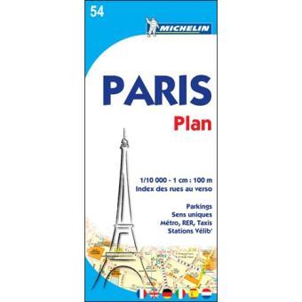 Mapa Michelin City Plan 54 - Paris