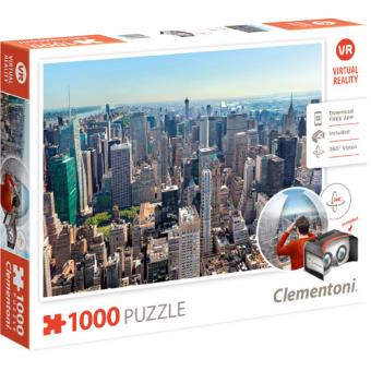 Puzzle New York - Realidade Virtual 1000 Peças - Clementoni