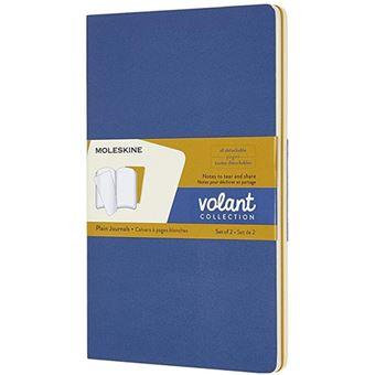 Caderno Liso Moleskine Volant Grande Blue Amber e Yellow - 2 Unidades