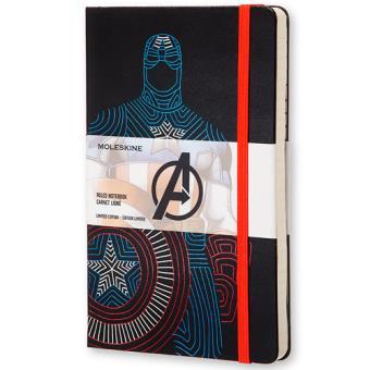 Caderno Pautado Moleskine Avengers - Captain America Grande
