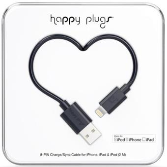 Cabo Lightning Happy Plugs 2m - Preto
