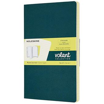 Caderno Pautado Moleskine Volant Grande Pine Green e Lemon - 2 Unidades