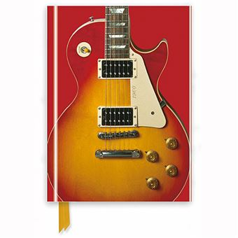 Caderno Pautado Flame Tree - Gibson Les Paul Guitar, Sunburst Red
