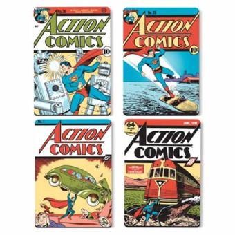 Superman - Conjunto de 4 Base de Copo Comic Covers