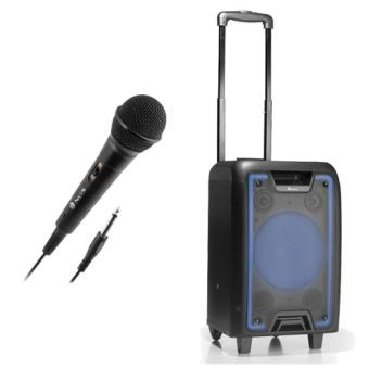 Coluna NGS Wildmetal Bluetooth + Microfone NGS Singer Fire