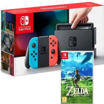 Pack Nintendo Switch 32GB Azul & Vermelho Néon + The Legend of Zelda: Breath of the Wild
