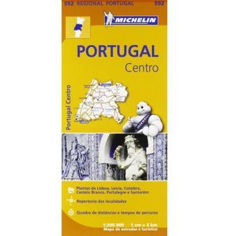 Mapa Regional Michelin - Portugal Centro