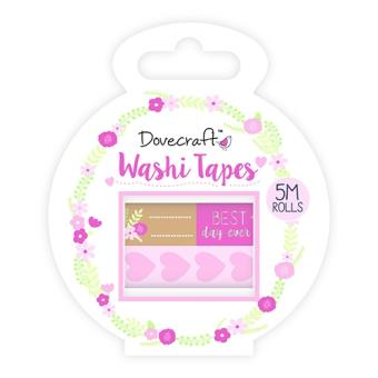 Fita-Cola Decorativa Washi Tape - Happily Ever After - 2 Unidades