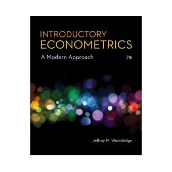 Introductory Econometrics: A Modern Approch