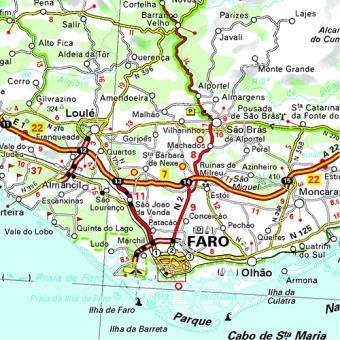 mapa sul portugal Michelin Mapas Regionais   Portugal Sul Algarve   Vários, Vários  mapa sul portugal