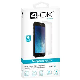 Película Ecrã Vidro Temperado 4-OK para Nokia 3.1