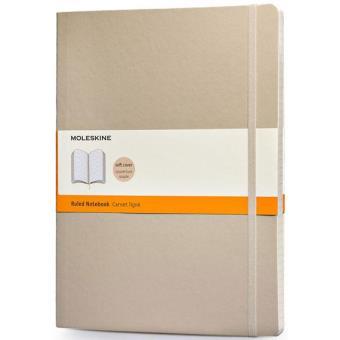 Moleskine: Caderno Soft Pautado XL Bege