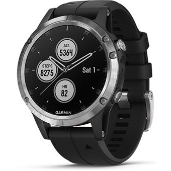 Relógio Desporto Garmin Fenix 5 Plus - Prateado | Preto