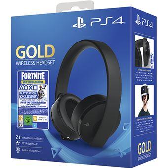 Headset Wireless Gold PS4 + Voucher Fortnite