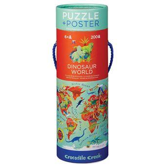 Puzzle Dinossauros + Poster - 200 Peças - Crocodile Creek