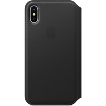 Capa Apple Leather Folio para iPhone X - Preto