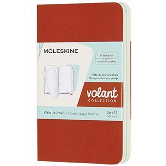 Caderno Liso Moleskine Volant XS Coral Orange e Aqua - 2 Unidades