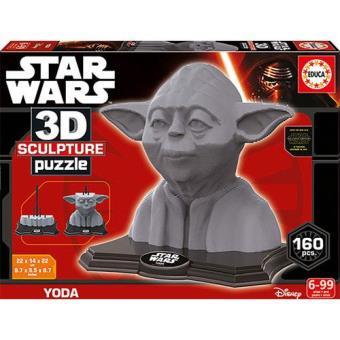 Puzzle 3D Star Wars - Yoda (160 Peças)