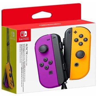 Joy-Con Nintendo Switch (E/D) - Roxo   Laranja Néon