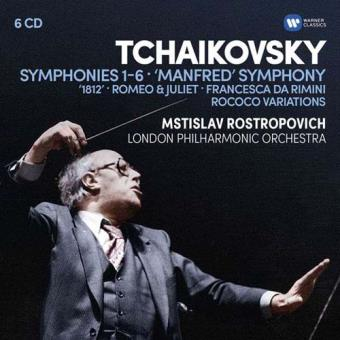 Tchaikovsky:  Symphonies 1-6, Manfred Symphony, Overtures, Rococo variations (6CD)