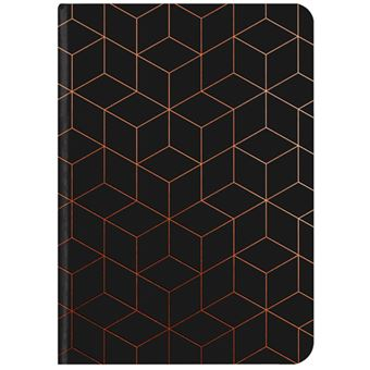 Caderno Liso TeNeues GlamLine Black & Copper A5