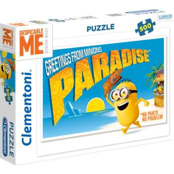 Puzzle Greetings From Minions - 500 Peças - Clementoni