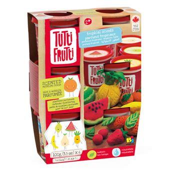 Plasticina 6 Potes: Aromas Tropicais - Tutti Frutti