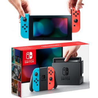 Consola Nintendo Switch 32 GB inclui Conjunto Comandos Joy-Con Azul Néon & Vermelho Néon (Esquerdo+Direito)
